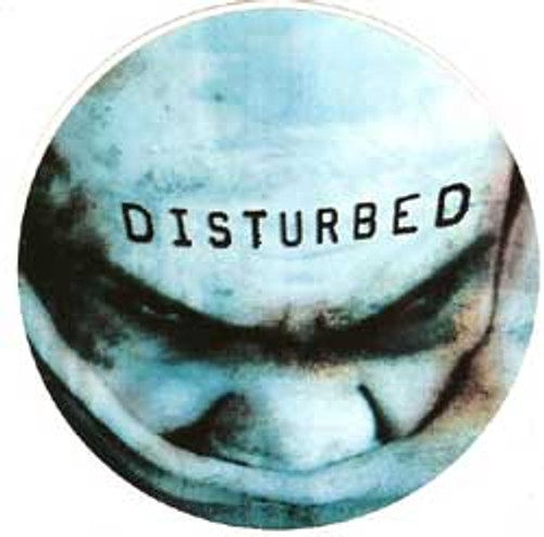 Disturbed Vinyl Sticker Circle Letters Logo