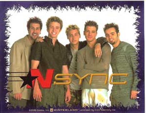 N Sync Vinyl Sticker Group Shot Photo