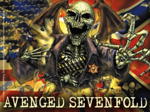 Avenged Sevenfold Vinyl Sticker Flag Logo