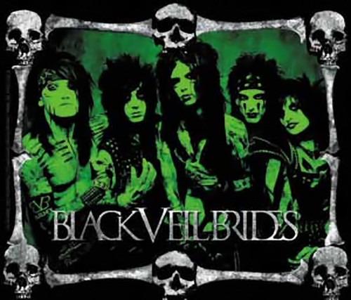 Black Veil Brides Vinyl Sticker Green Band Skulls Logo