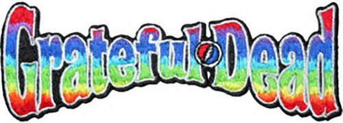 Grateful Dead Iron-On Patch Rainbow Letters Logo