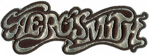 Aerosmith Iron-On Patch Silver Letters Logo