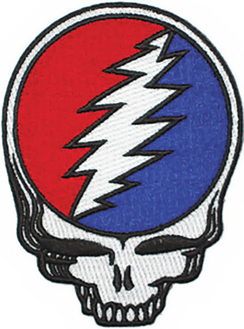 Grateful Dead Iron-On Patch Steal Your Face Skull