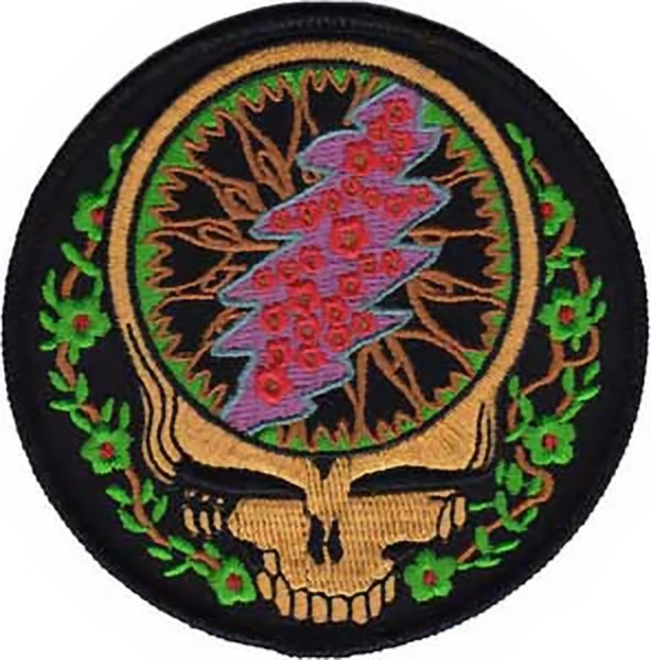 Grateful Dead Iron-On Patch Vines Skull Logo