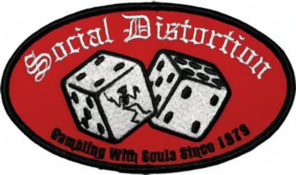 Social Distortion Iron-On Patch Oval Dice Logo