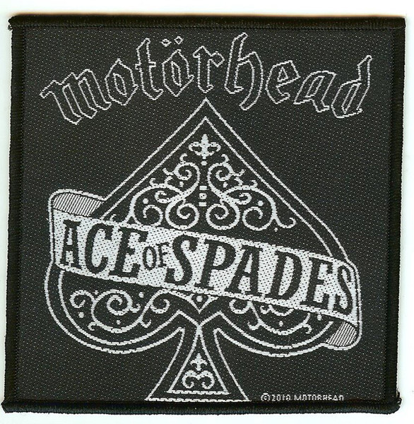 Motorhead Sew On Patch Square Ace Of Spades Logo