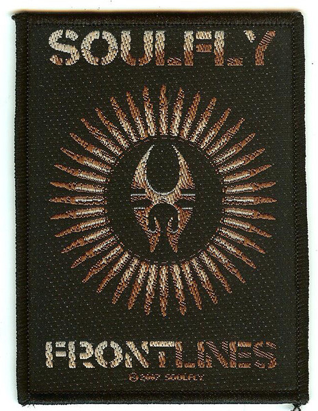 Soulfly Sew On Patch Frontlines Logo
