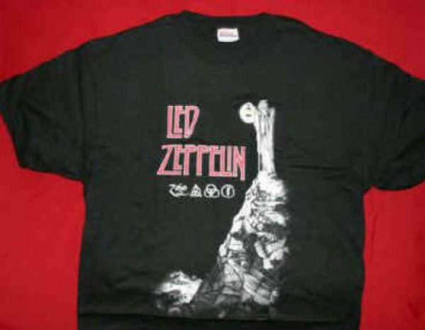 Led Zeppelin T-Shirt Stairway To Heaven Black Size Youth Large