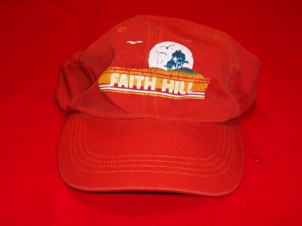 Faith Hill Hat Letters Logo Orange One Size Fits All