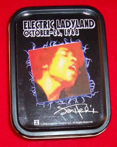 "Jimi Hendrix Metal Tin Electric Ladyland 2.5"" x 3.25"""