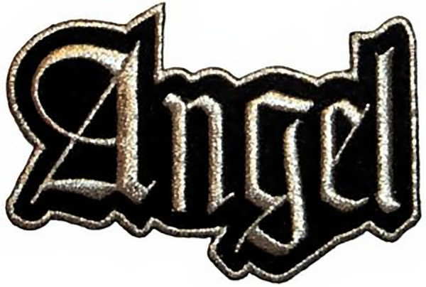 Angel Iron-On Patch Silver Letters Logo