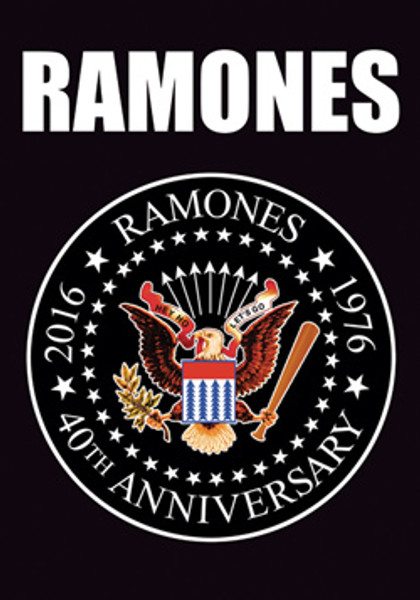 The Ramones Poster Flag 40th Anniversary Eagle Seal