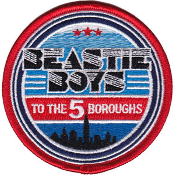 Beastie Boys Iron-On Patch Round To The 5 Boroughs City Logo