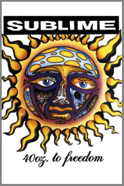Sublime Magnet 40 Ounces To Freedom Logo