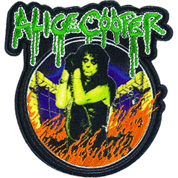 Alice Cooper Iron-On Patch In Flames Logo