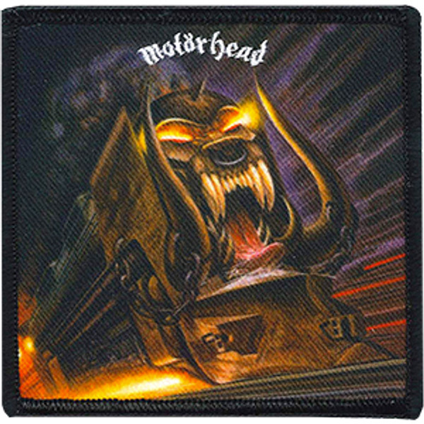 Motorhead Iron-On Patch Square Orgasmatron Logo