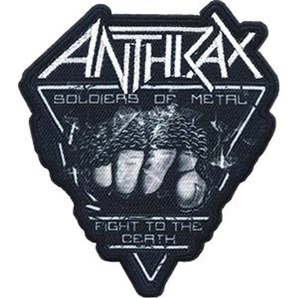 Anthrax Iron-On Patch Soldiers Of Metal Fist Logo