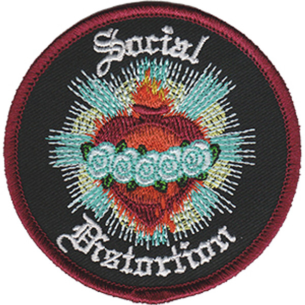 Social Distortion Iron-On Patch Blue Rose Logo