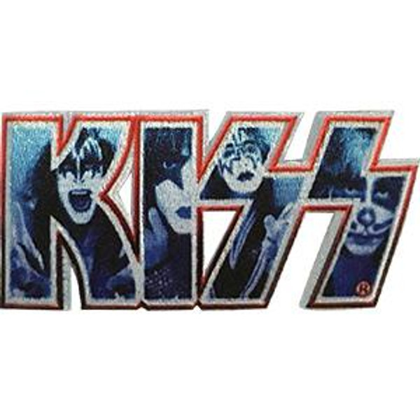 Kiss Iron-On Patch Faces Letters Logo
