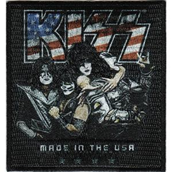 Kiss Iron-On Patch Made In The USA Logo