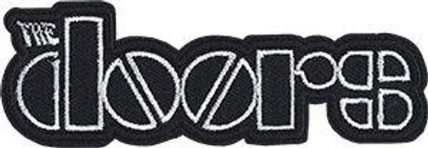 The Doors Iron-On Patch White Letters Logo