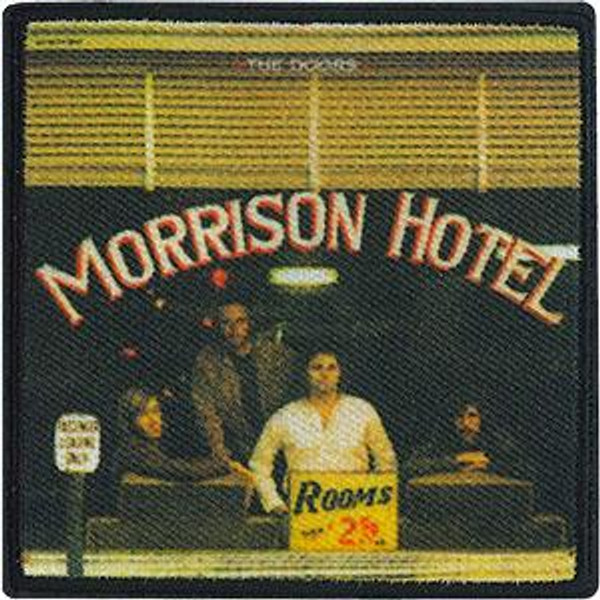 The Doors Iron-On Patch Square Morrison Hotel