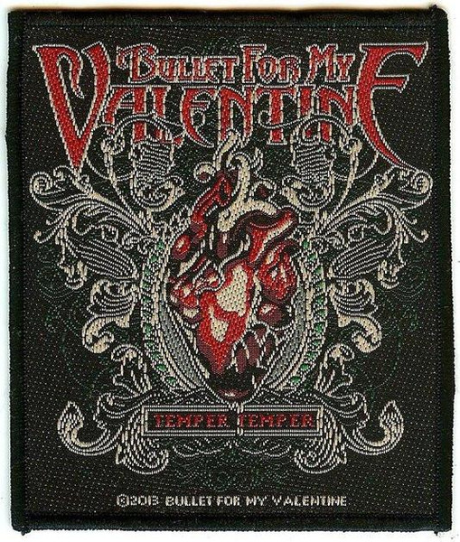 Bullet For My Valentine Sew On Patch Temper Logo