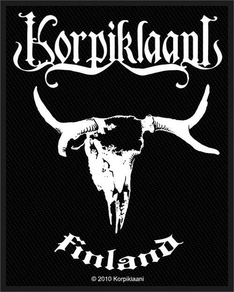 Korpiklaani Sew On Patch Finland Skull Logo