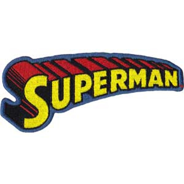Superman Iron-On Patch Yellow Letters Logo