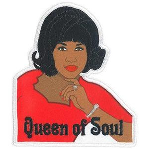 Aretha Franklin Iron-On Patch Queen Of Soul Logo