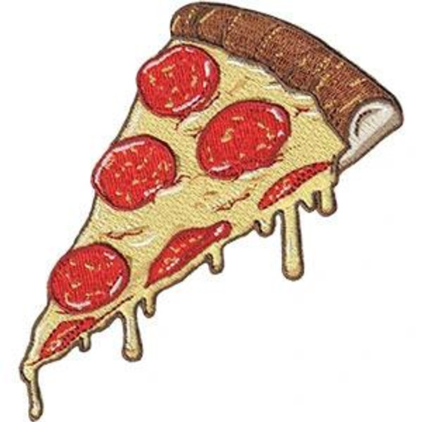 Pizza Iron-On Patch Dripping Cheese Pepperoni Slice