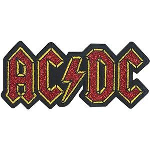 AC/DC Iron-On Patch Glitter Letters Logo