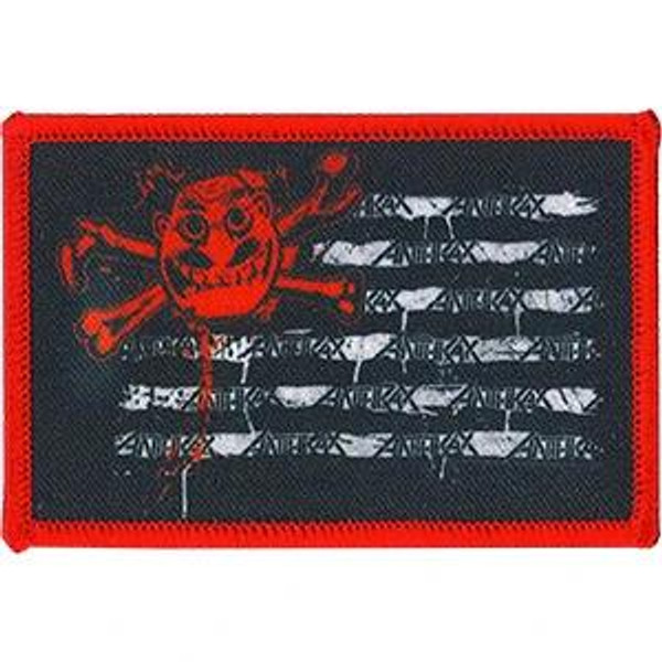 Anthrax Iron-On Patch Rectangle Man Flag Logo