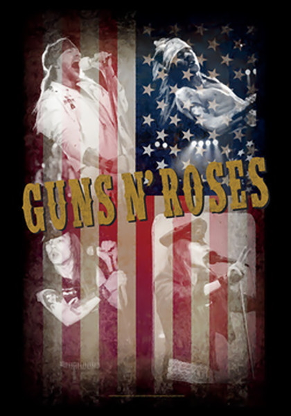 Guns n' Roses Poster Flag American Collage