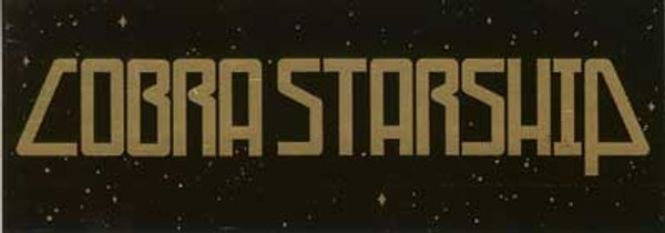 Cobra Starship Vinyl Sticker Gold Letters Logo