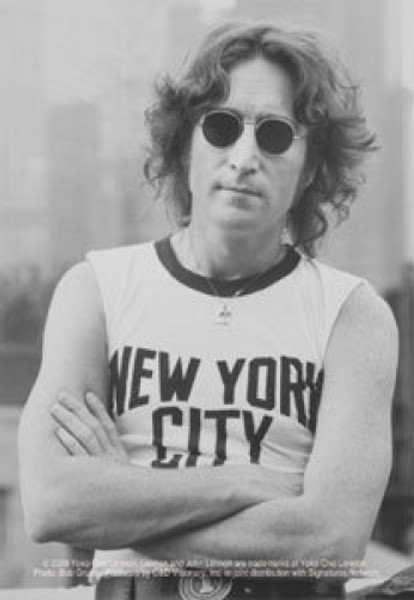John Lennon Vinyl Sticker New York City Photo