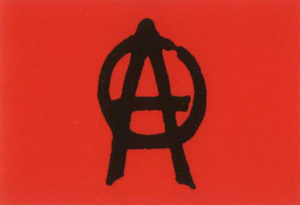 Anarchy Poster Flag Red Punk Rock Logo