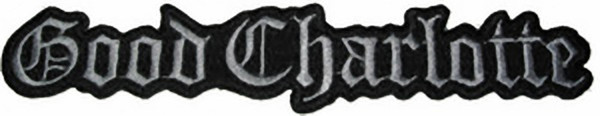 Good Charlotte Iron-On Patch Silver Letters Logo