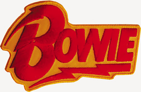 David Bowie Iron-On Patch Lightning Letters Logo