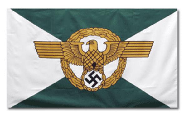German Police Ordnungspolizei Flag 3x5 ft. Economical