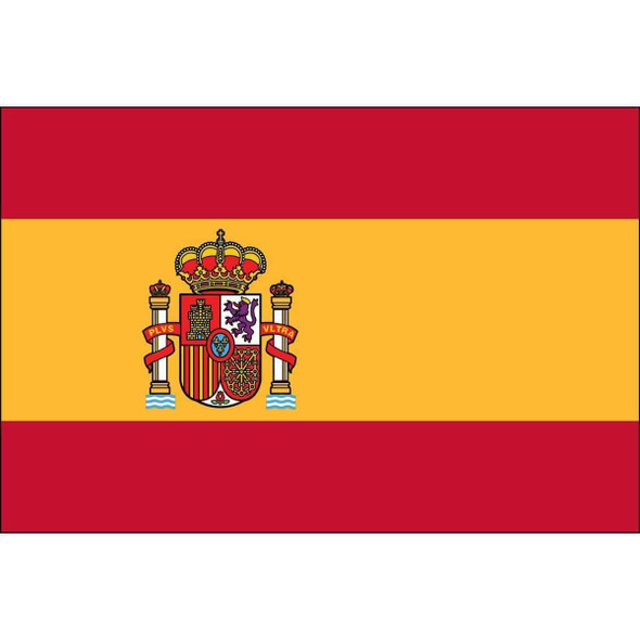 Spain Flag with Seal 3 X 5 ft. Standard