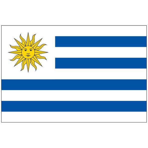Uruguay Flag Economical