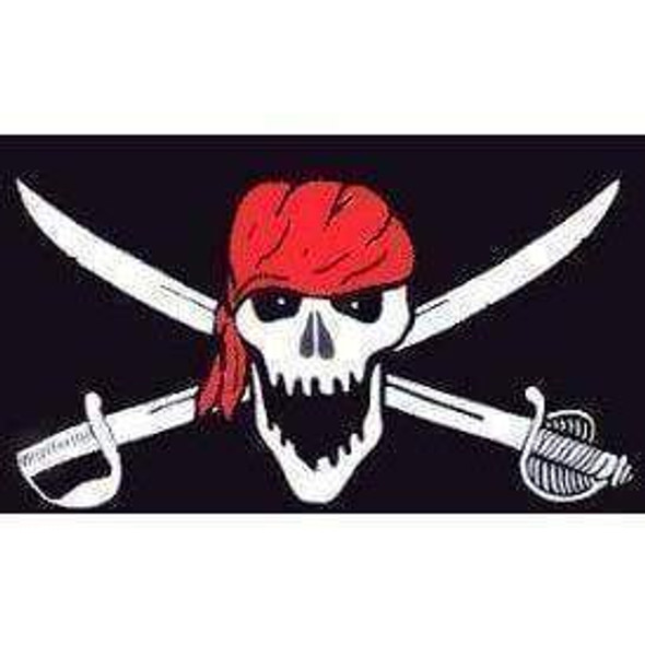 Pirate Brethren Red Head Wrap Flag 3 X 5 ft. Standard