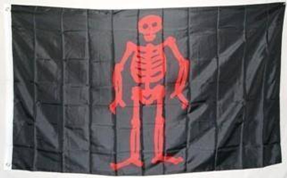 Pirate Edward Low, Red Skeleton Flag 3 X 5 ft. Standard