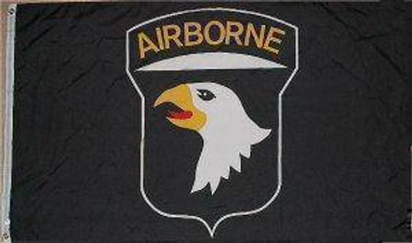 101st Airborne (Black) Flag 3x5 ft. Standard