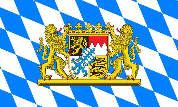 Bavaria With Crest Flag (German State Flag) 3x5 ft Economical