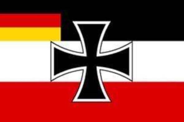 German Jack Flag w/ German Flag In Corner 3x5 ft. Economical