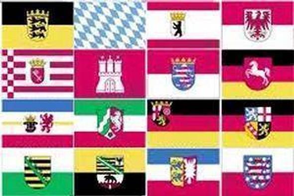 Germany 16 States Flag 3x5 ft. Economical