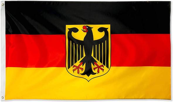German Flag with Eagle Federal Shield Bundesdienstflagge 3x5 ft. Economical