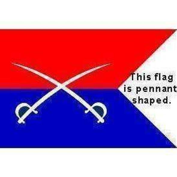 Custer Battle Flag - General Custer Cutlass flag 3x5 ft. Economical